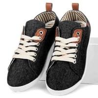 Džínové tenisky černé