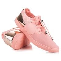 Sportovní boty se stahováním růžové