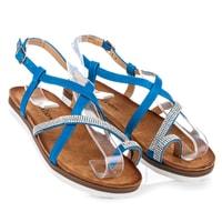 Modré sandály crystals
