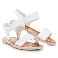Bílé sandály s gumou