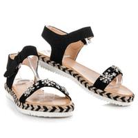 Sandály espadrilky na suchý zip