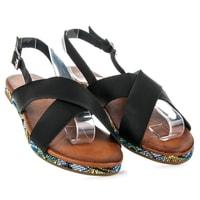 Sandály z eko kůže černé