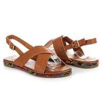 Sandály z eko kůže hnědé