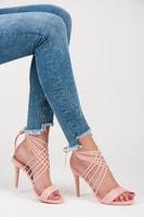 Zajímavé růžové lodičky sandálky