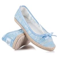 Krajkové baleríny modré