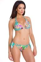 Dámské plavky bikiny Laila tyrkysové s vzorem