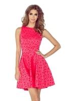 Letní dámské šaty retro růžové