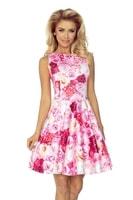 Květované dámské šaty růžové