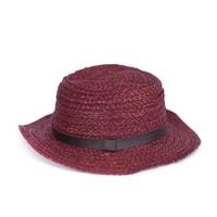 Letní klobouk vínový