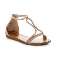 Pohodlné sandály na zip béžové