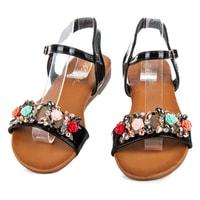 Letní obuv s ozdobami černé