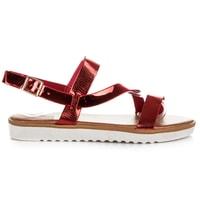 Sandály na platformě se vzorem červené