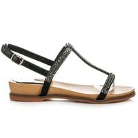 Sandály se zdobením černé