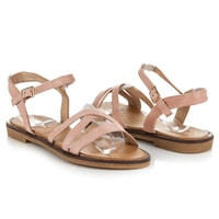 Semišové sandály růžové