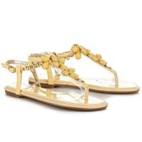 Lakované sandály yellow crystals