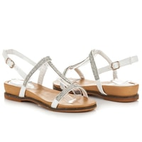 Sandály bílé se zdobením