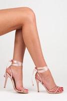 Saténové růžové sandály