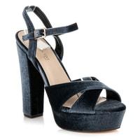 Sandály na platformě šedé