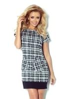 Černobílé kostkované šaty 62-3