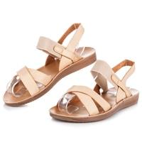 Béžové sandály na gumu