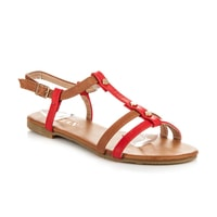 Sandály se zapínáním červené