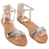 Lakované sandály na zip