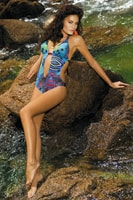 Plavky Ashley pestrobarevné monokiny