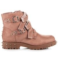 Rockové boty s mašličkami růžové