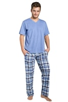 Pánské pyžamo Adam modré