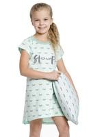 Dívčí noční košilka Lilie tyrkysová