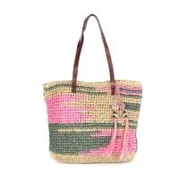Impresionistická kabelka zeleno růžová