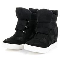 Podzimní boty na klínu černé