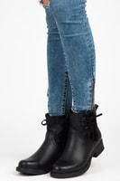 Dámské boty s třásněmi černé