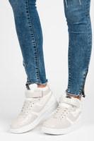 Lakované sportovní boty bílé