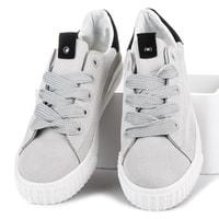 Šedé sportovní boty na platformě
