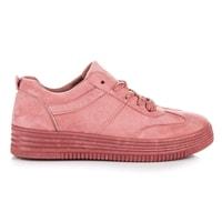 Dámské růžové semišové tenisky