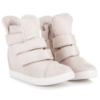 Sneakery na suchý zip béžové