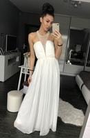 Dámské dlouhé šaty bílé