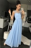 Dámské plesové šaty světle modré
