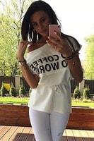 Tričko s nápisem bílé
