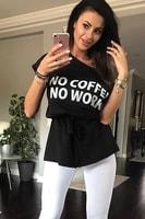 Tričko s nápisem černé