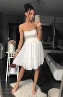 Dámské bílé šaty bez ramínek