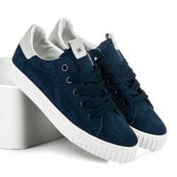 Navy modré sportovní boty na platformě