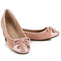 Semišové baleríny růžové