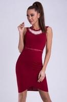Dámské pouzdrové šaty červené