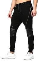 Pánské kalhoty se zipy černé