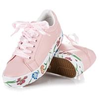 Tenisky flower print růžové