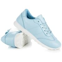 Vázaná dámská obuv modrá