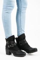 Vysoké boty na suchý zip černé
