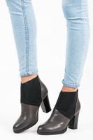 Nazouvací boty na podpatku šedé